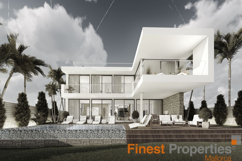 Projected modern villa for sale in Cala Vinyas - Picture 0