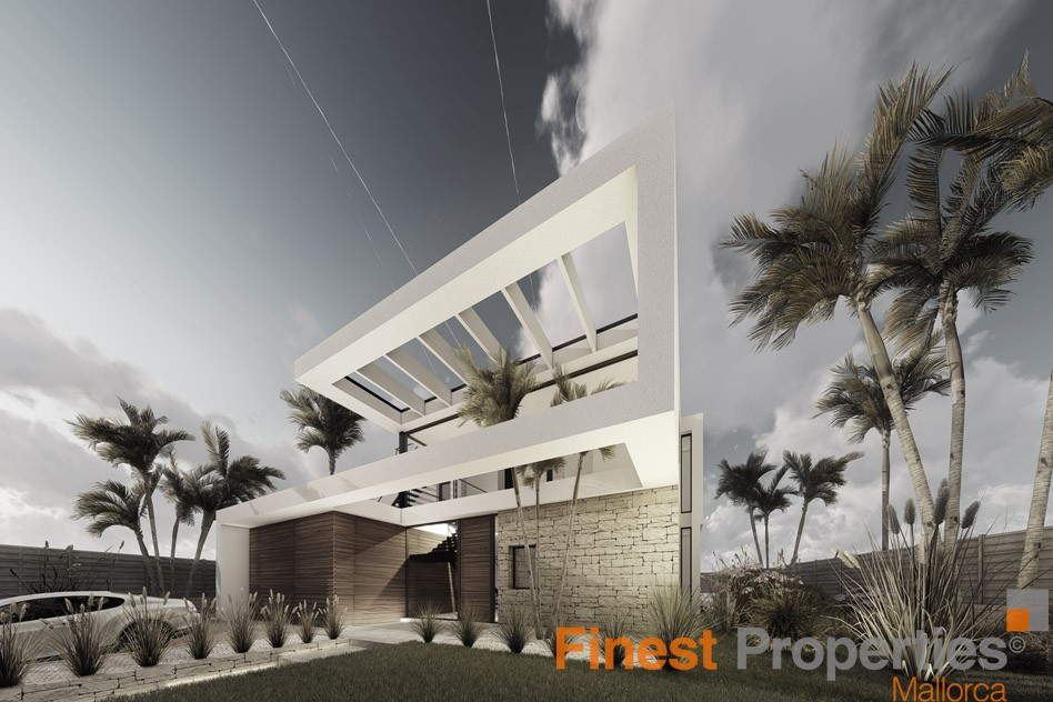 Projected modern villa for sale in Cala Vinyas - Picture 1