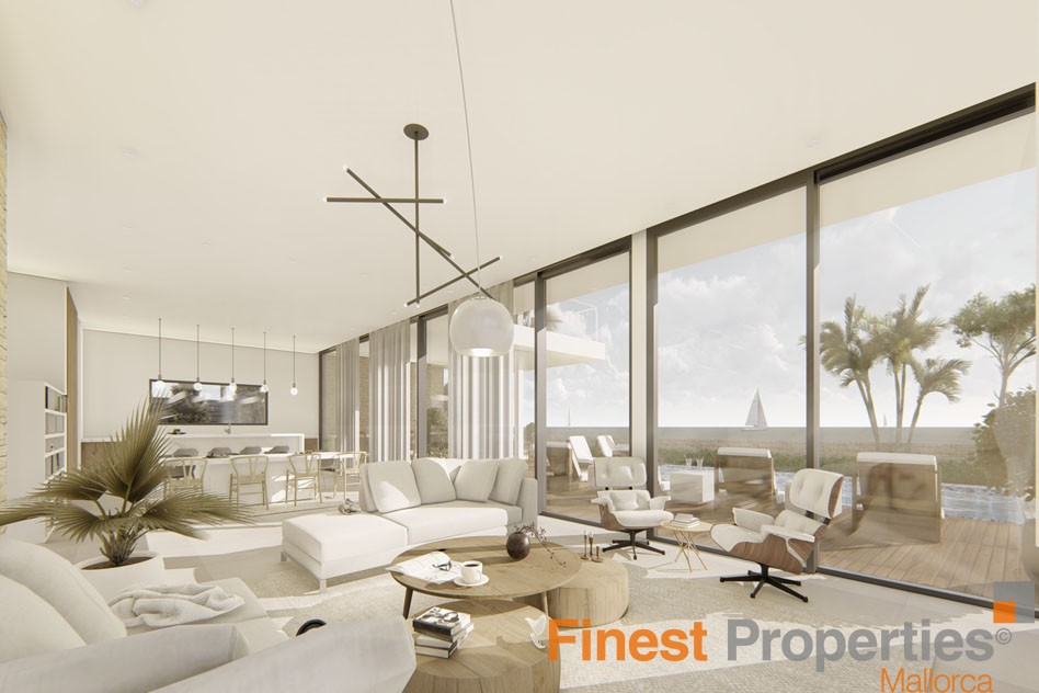 Projected modern villa for sale in Cala Vinyas - Picture 5